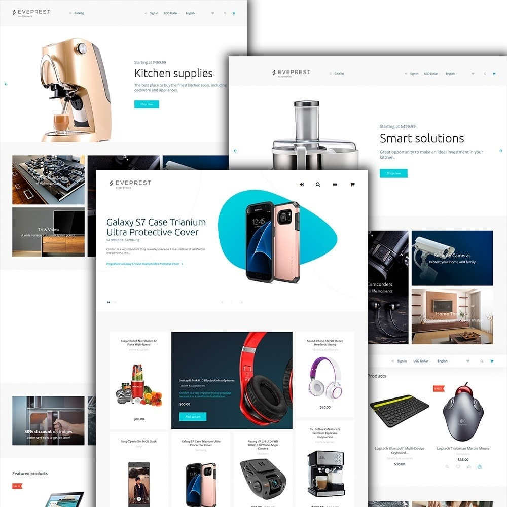 Eveprest -  шаблон магазина электроники