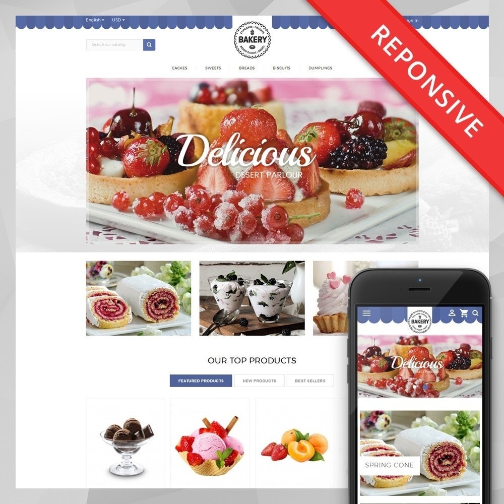 theme - Продовольствие и рестораны - Online Bakery Store - 1