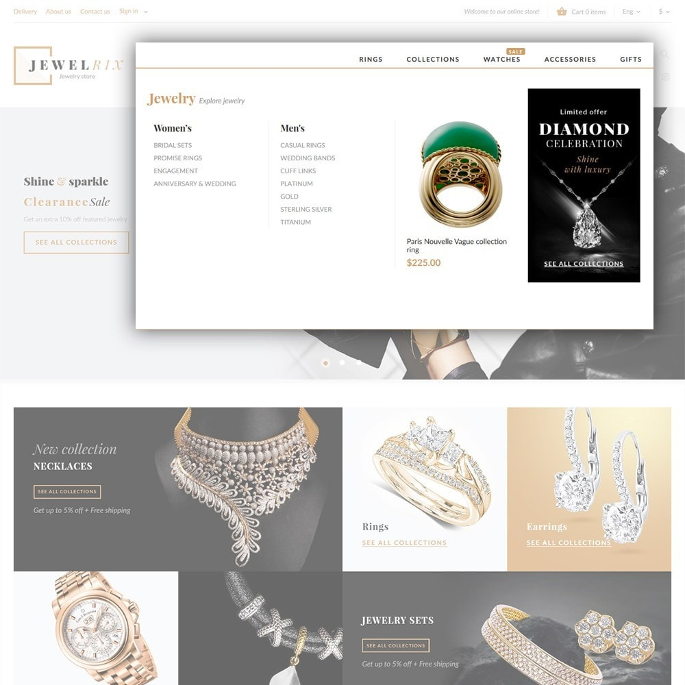 Jewelrix - Bijoux et articles de beauté thème