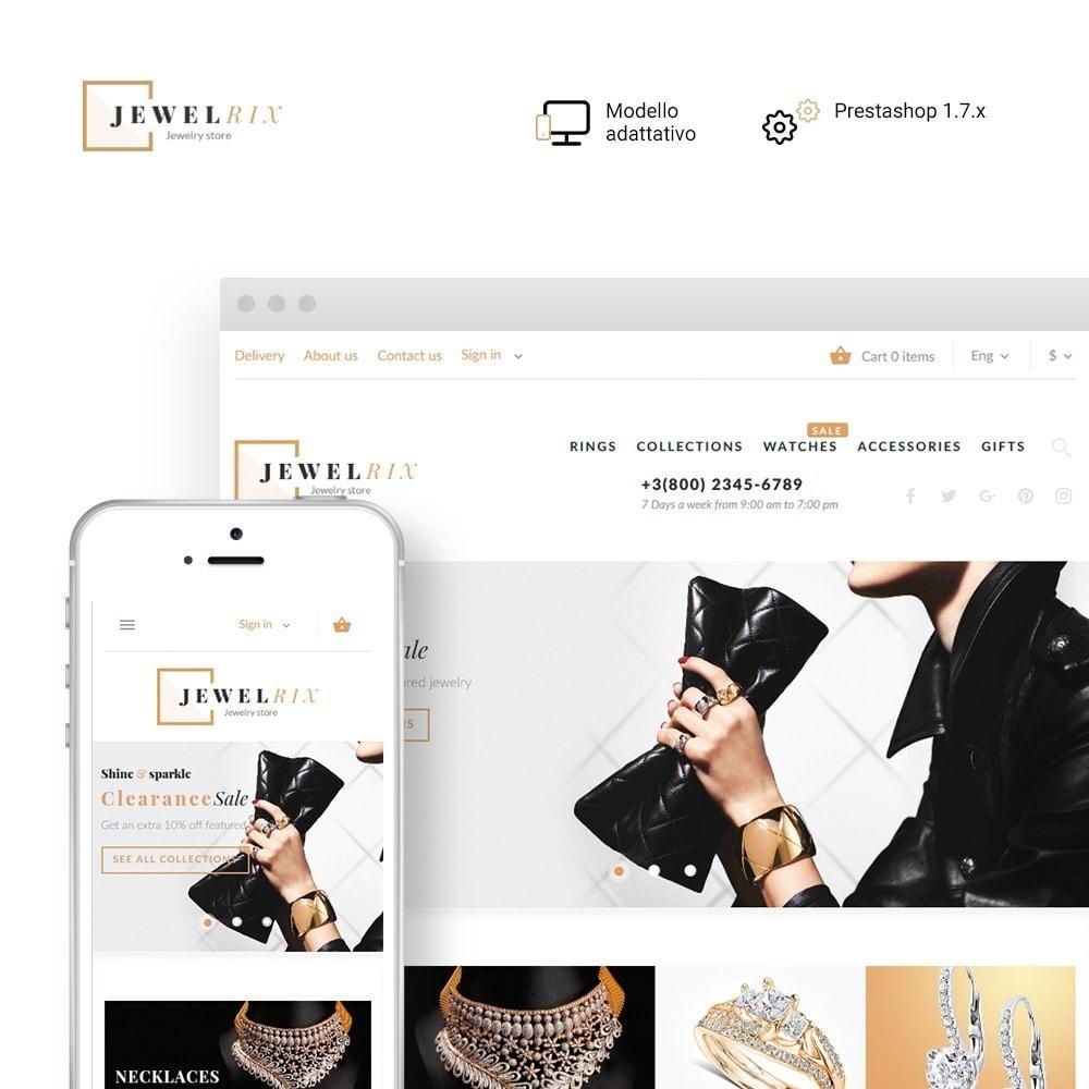 theme - Moda & Calzature - Jewelrix - Theme per Un Sito di Gioielli - 1