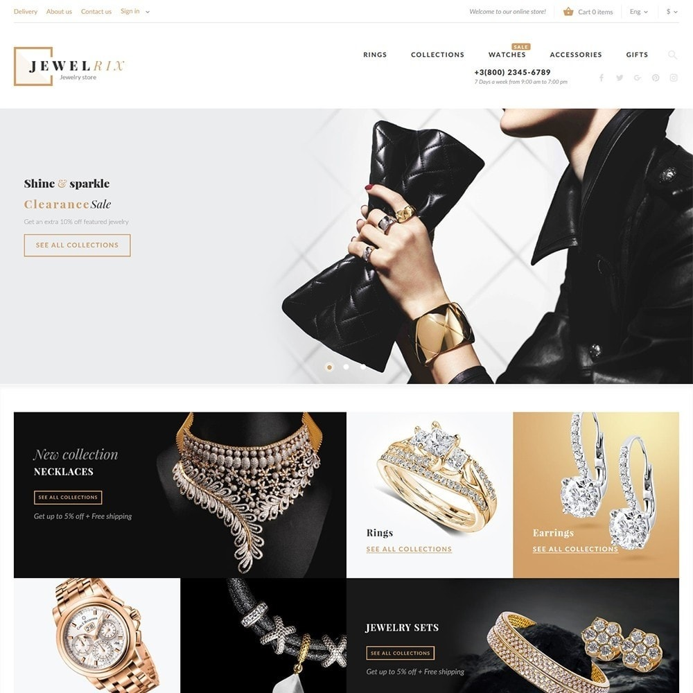 Jewelrix - Theme per Un Sito di Gioielli