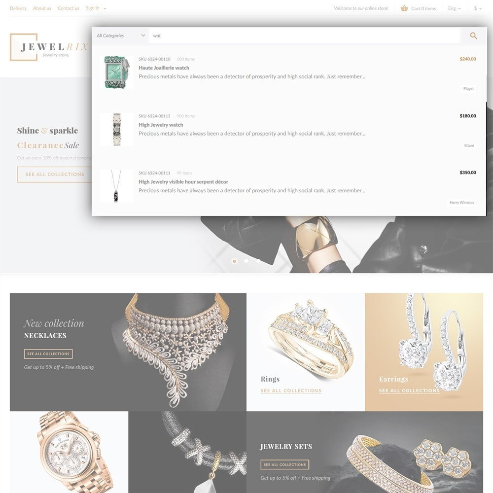 theme - Moda & Calzature - Jewelrix - Theme per Un Sito di Gioielli - 6