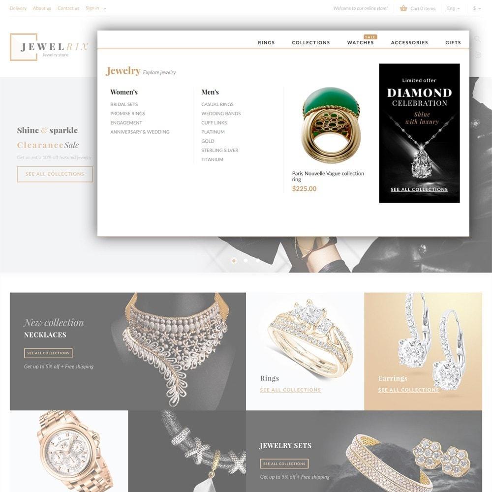 theme - Moda y Calzado - Jewelrix - Tema de para Sitio de Joyería - 4