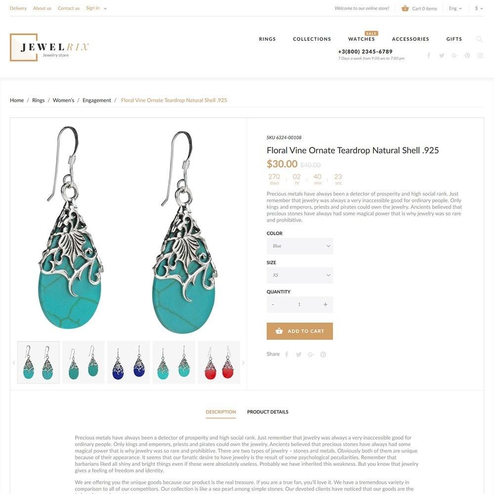 theme - Moda y Calzado - Jewelrix - Tema de para Sitio de Joyería - 5