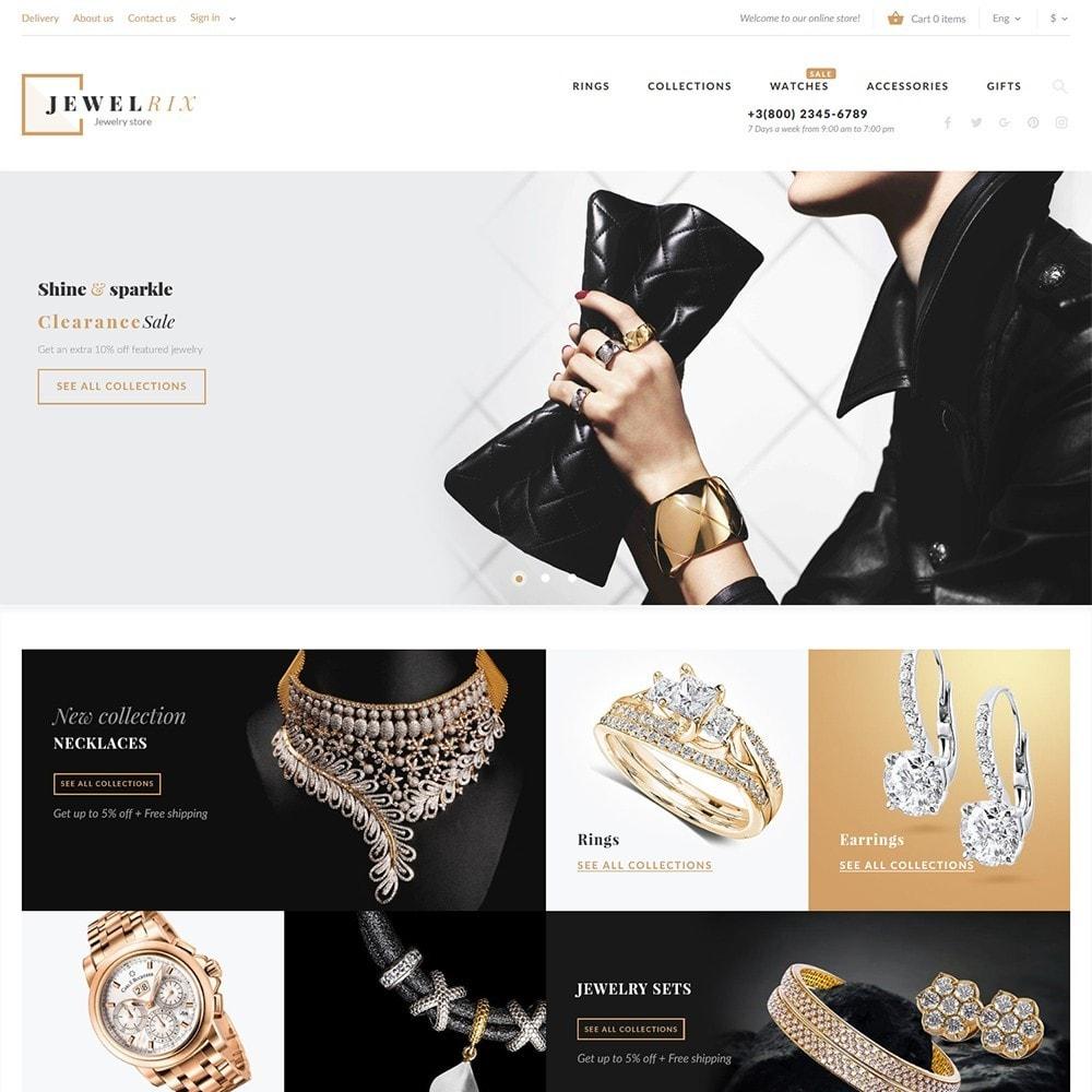 Jewelrix - шаблон магазина драгоценностей