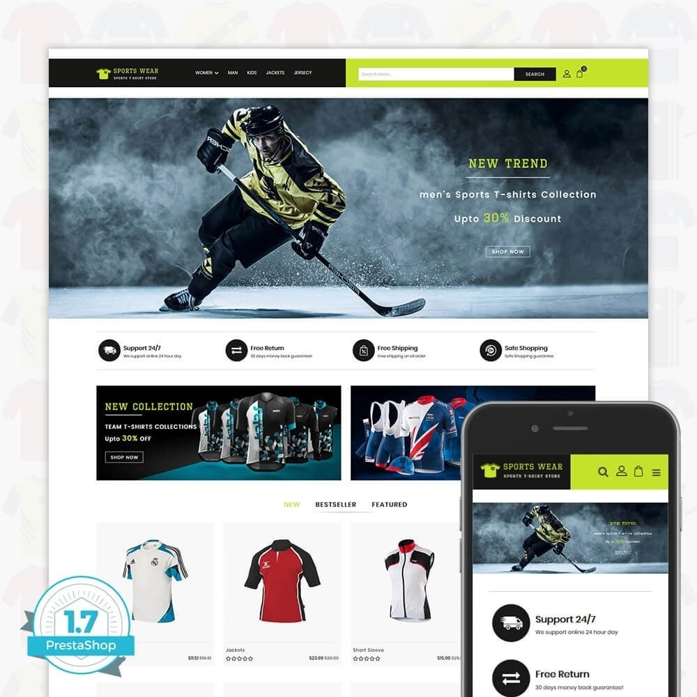 theme - Спорт и Путешествия - Sports Wear - The Sports T-shirt store - 1