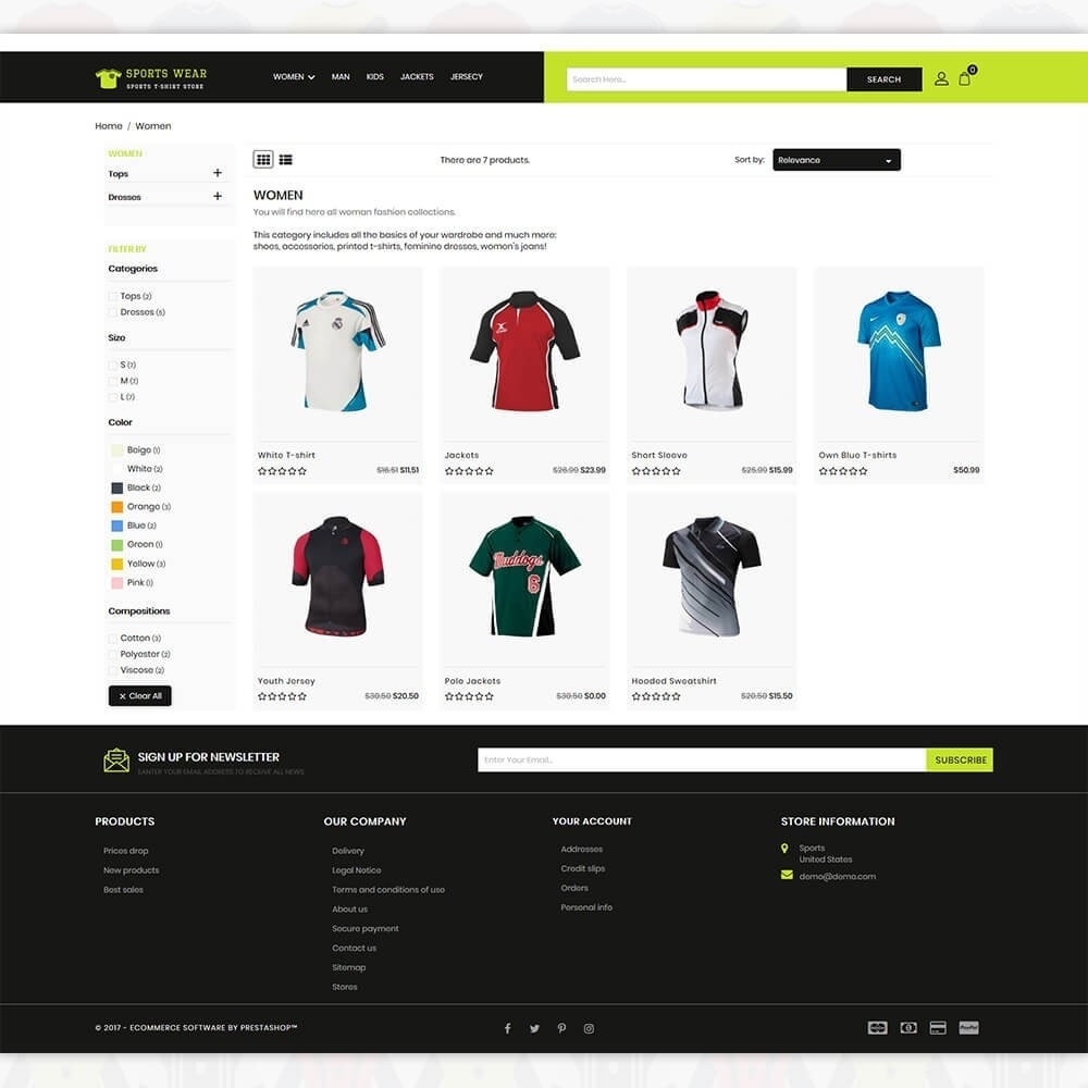 Sports Wear - The Sports T-shirt store