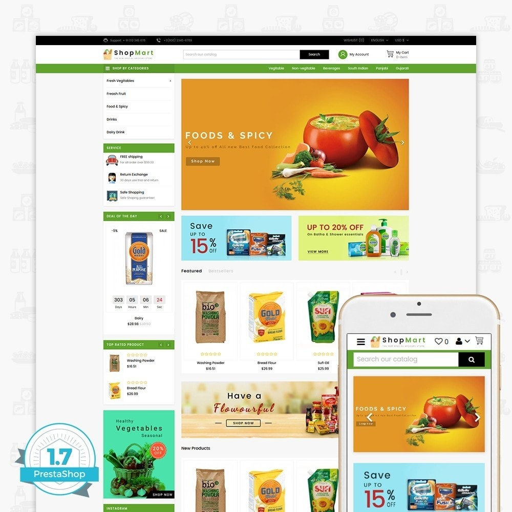 theme - Dom & Ogród - ShopMart - The Special Grocery Store - 1