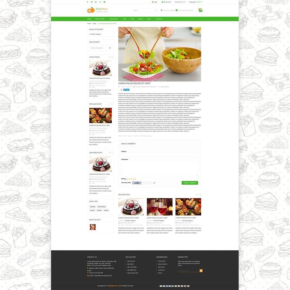theme - Lebensmittel & Restaurants - Food store - Fresh foods,  drinks and fruit store - 6