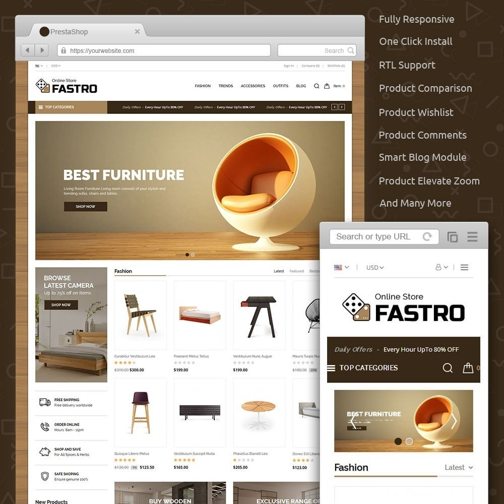 theme - Home & Garden - Fastro Furniture Shop - 1