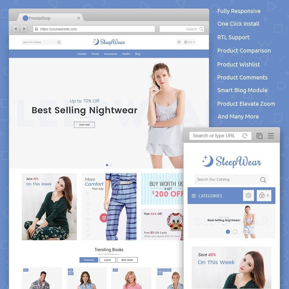 theme - Lenceria y Adultos - Sleep Wear Store - 1