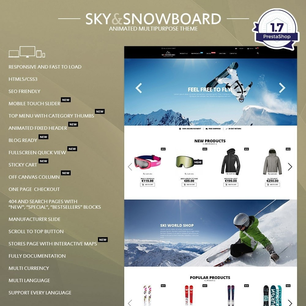 Ski & Snowboard - Magasin pour sports