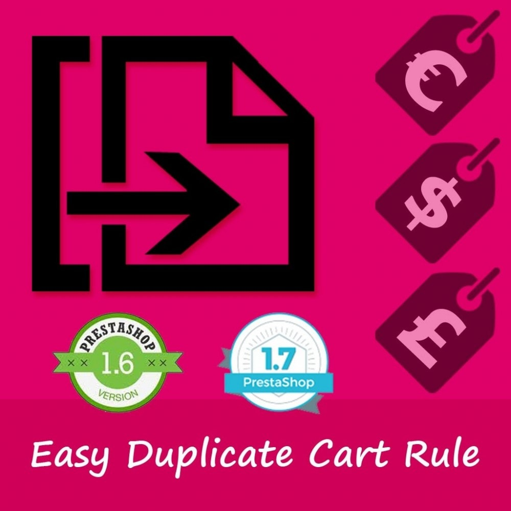 module - Social Rewards & Coupons - Easy duplicate Cart Rule - 1