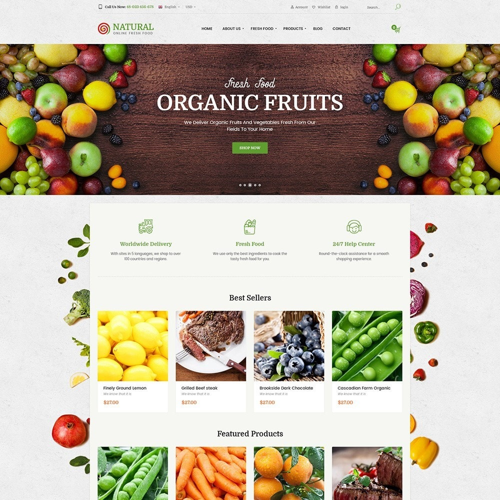 theme - Продовольствие и рестораны - Pts Natural – Fresh Organic Food - 6