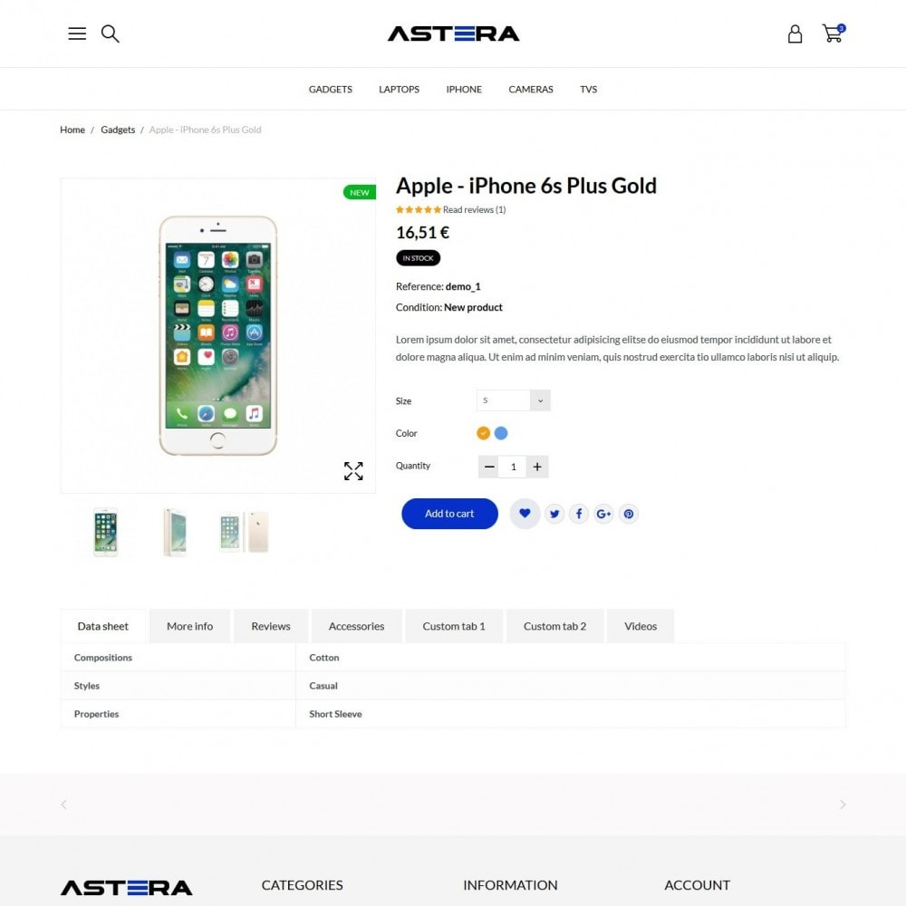 theme - Elettronica & High Tech - Astera - High-tech Shop - 6