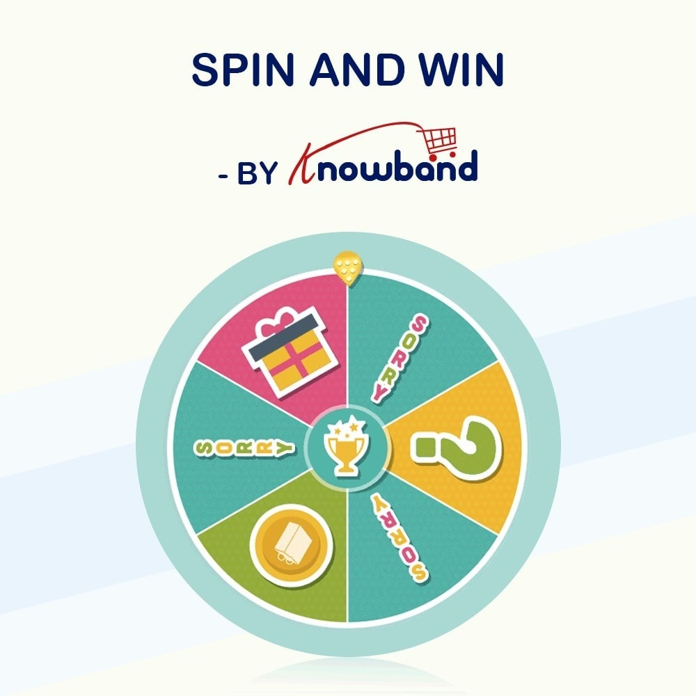 module - Promotions & Cadeaux - Knowband-Entry,Exit and Subscription Popup-Spin and Win - 1