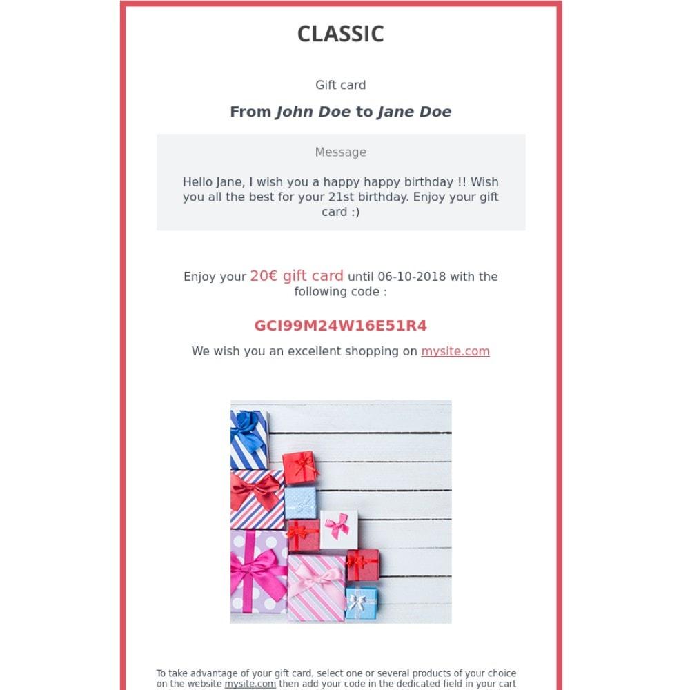 module - Wunschzettel & Geschenkkarte - Premium-Geschenkkarte 1.7 - 2