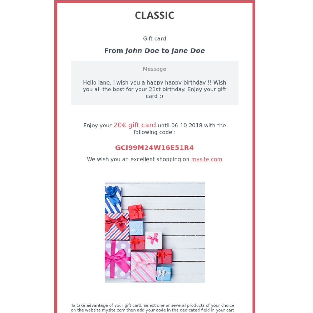 module - Список желаний и Подарочный купон - Premium Gift Card 1.7 - 2