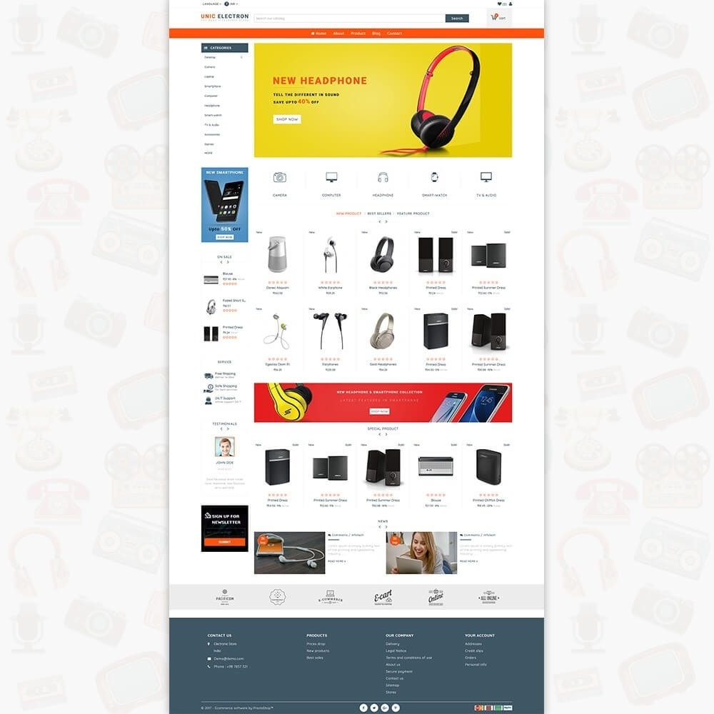 theme - Elettronica & High Tech - UNIC Electronics  - The Best Electronics Store - 2
