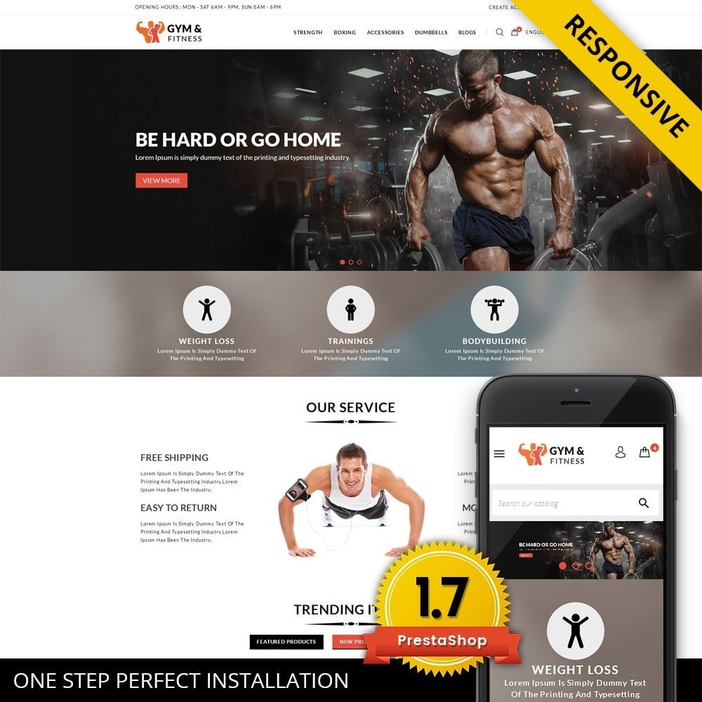 Gym & Fitness - Online Store