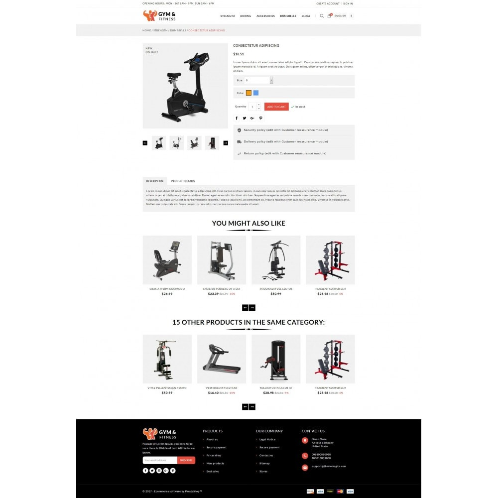 theme - Sport, Loisirs & Voyage - Gym & Fitness - Online Store - 5