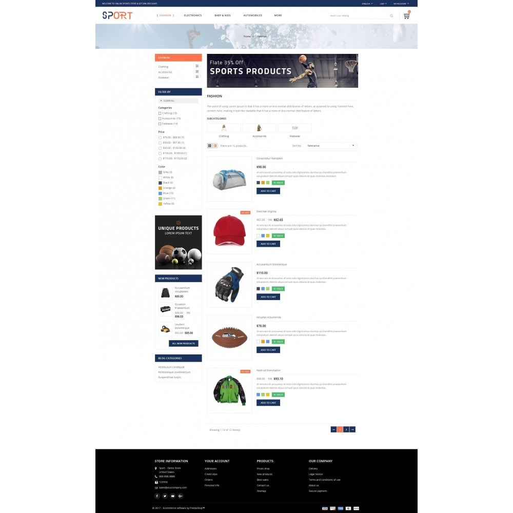 theme - Sport, Loisirs & Voyage - Sports Store - 4