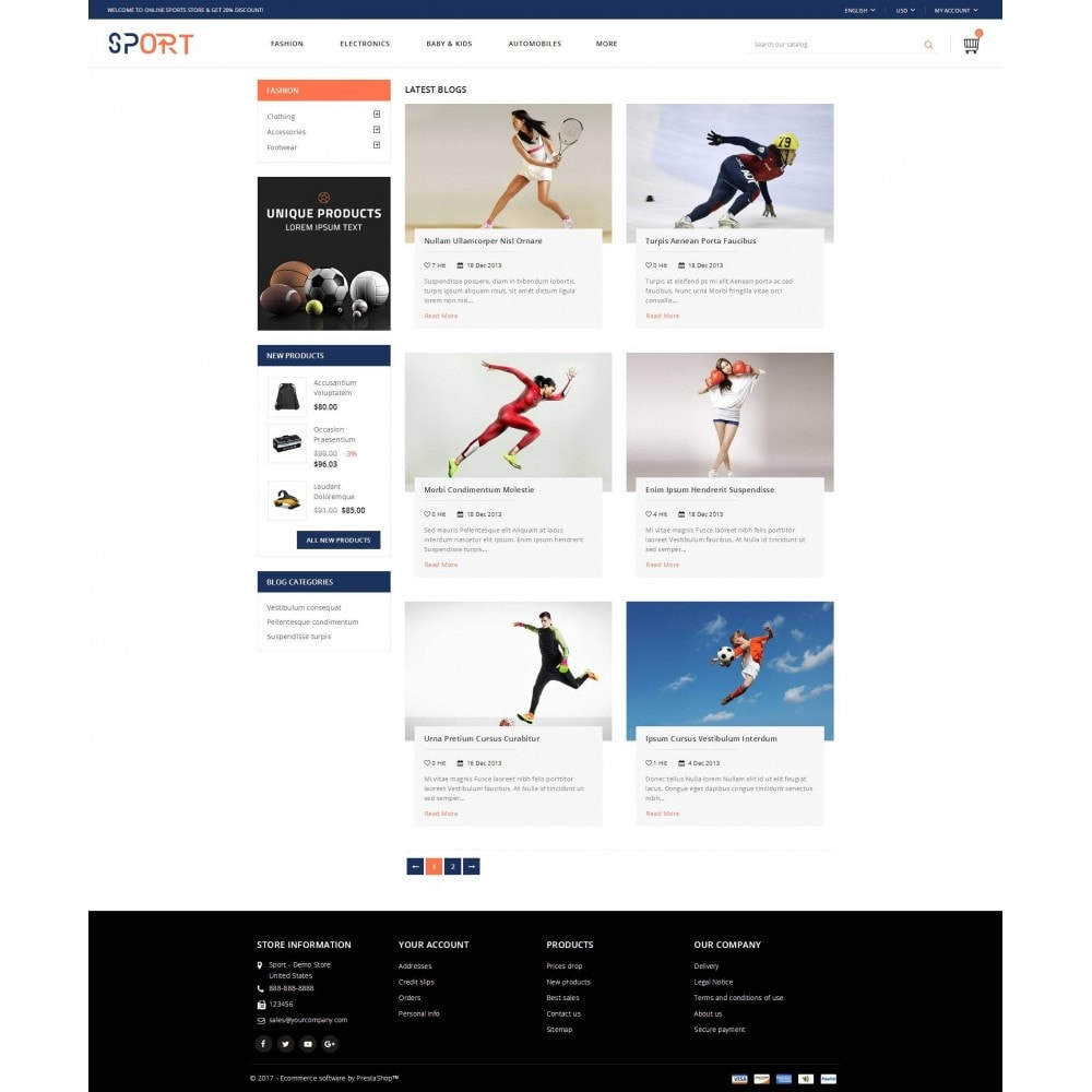 theme - Sport, Loisirs & Voyage - Sports Store - 9