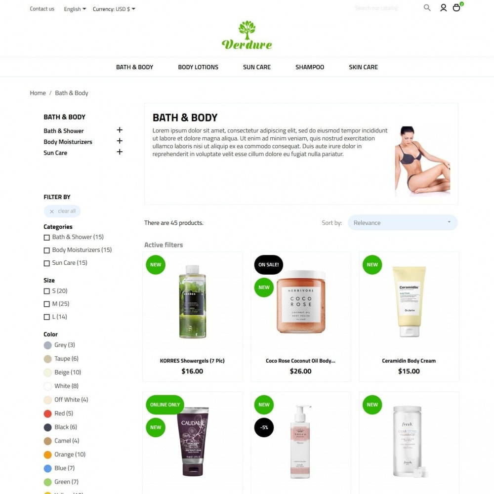 theme - Health & Beauty - Verdure Cosmetics - 5
