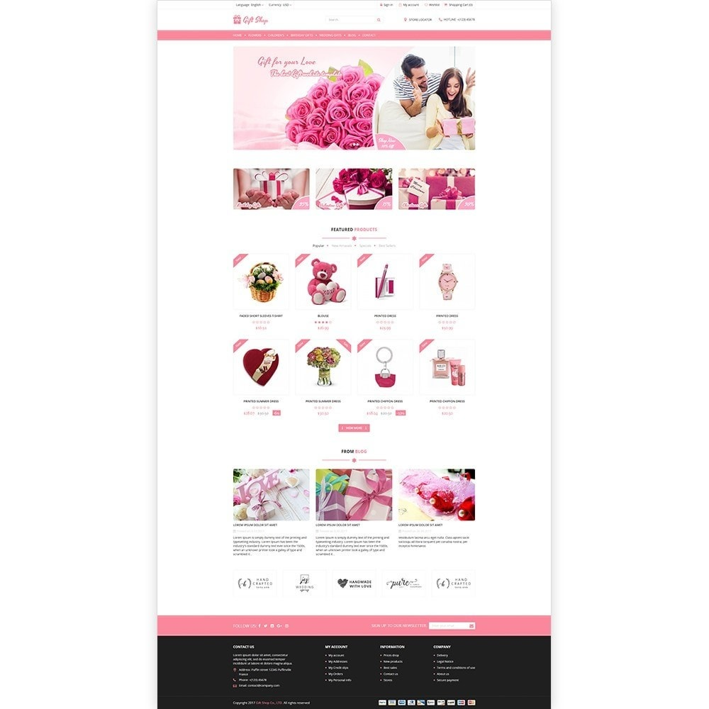 theme - Presentes, Flores & Comemorações - Gift Shop - For gift, flower, toy & accessories stores - 2