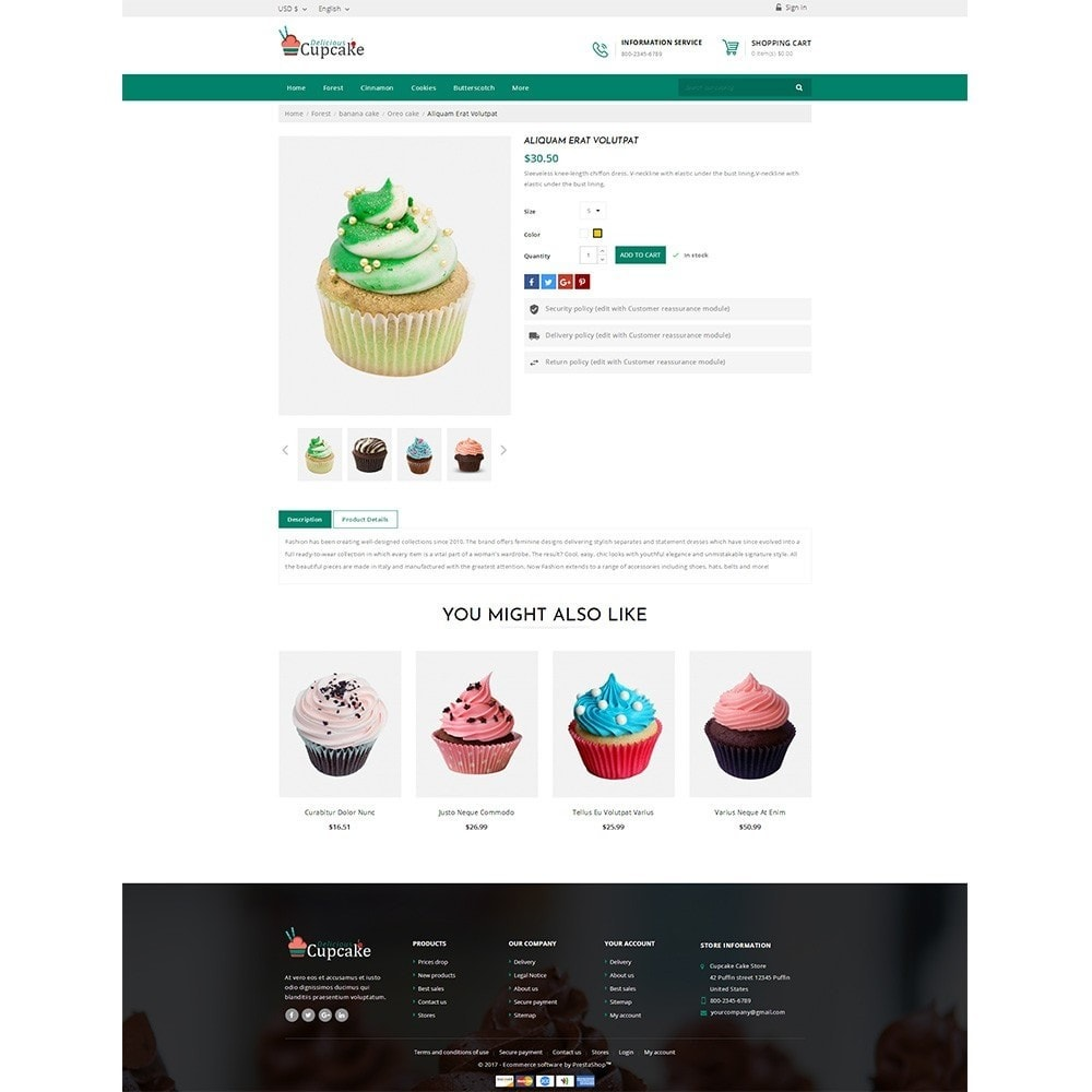 theme - Food & Restaurant - Cupcake Cake Shop - 4