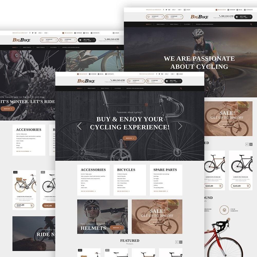 theme - Sport, Attività & Viaggi - BigBike - Un Sito di Negozio di Biciclettte - 3