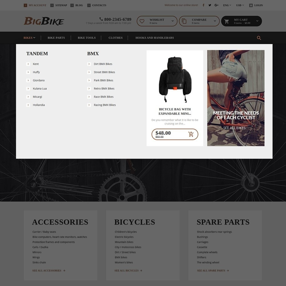 theme - Sport, Attività & Viaggi - BigBike - Un Sito di Negozio di Biciclettte - 7