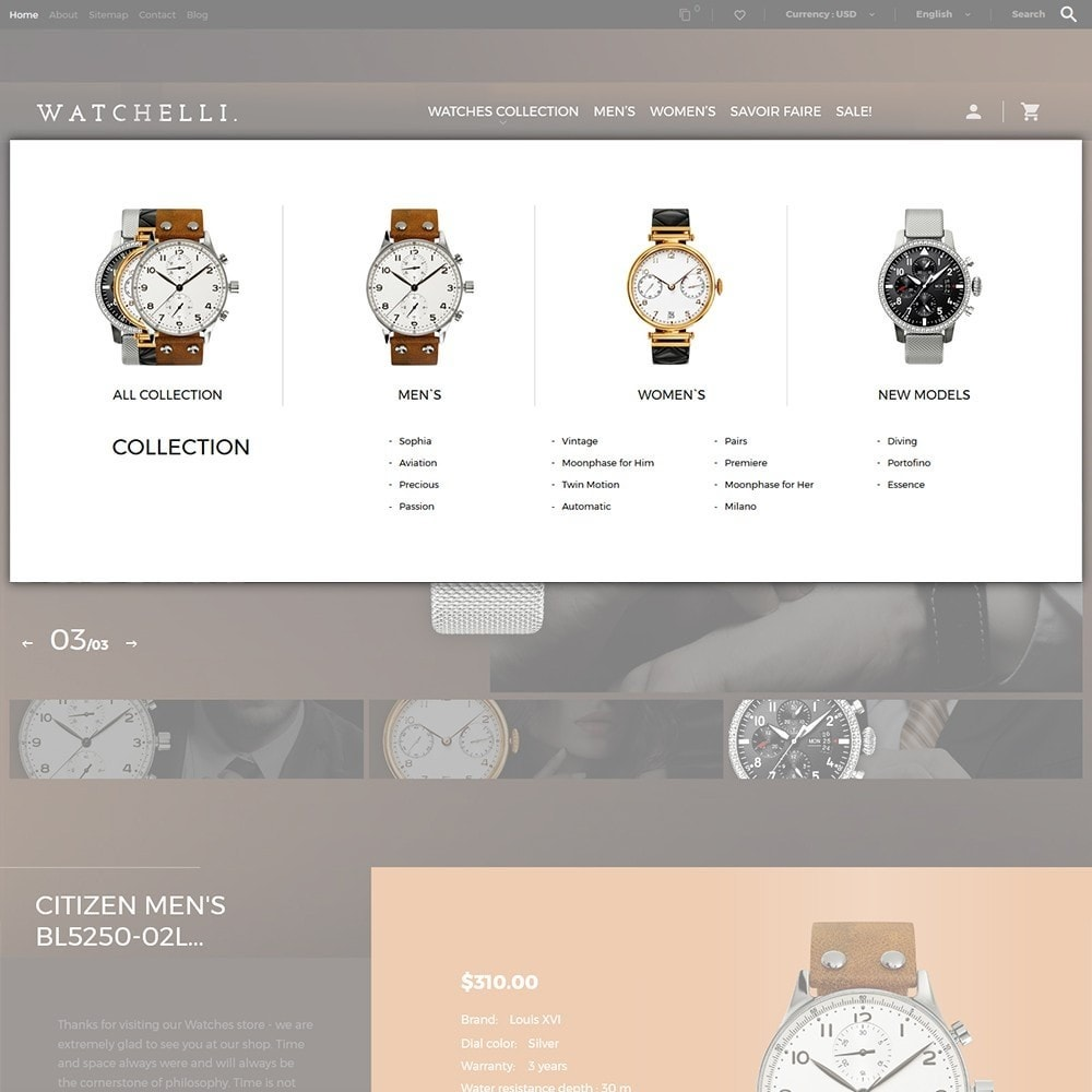 theme - Fashion & Shoes - Watchelli - Luxury Watches Store - 6