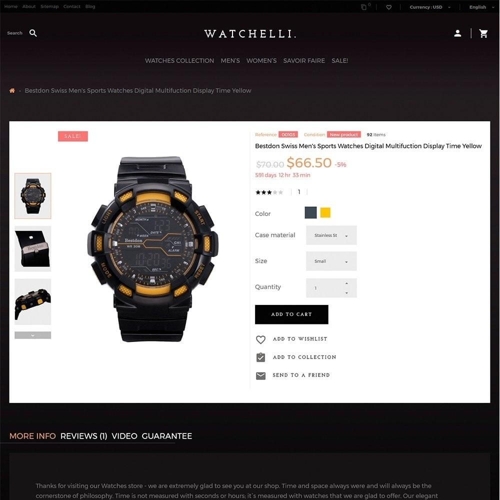 theme - Moda y Calzado - Watchelli - para Sitio de Relojes - 3