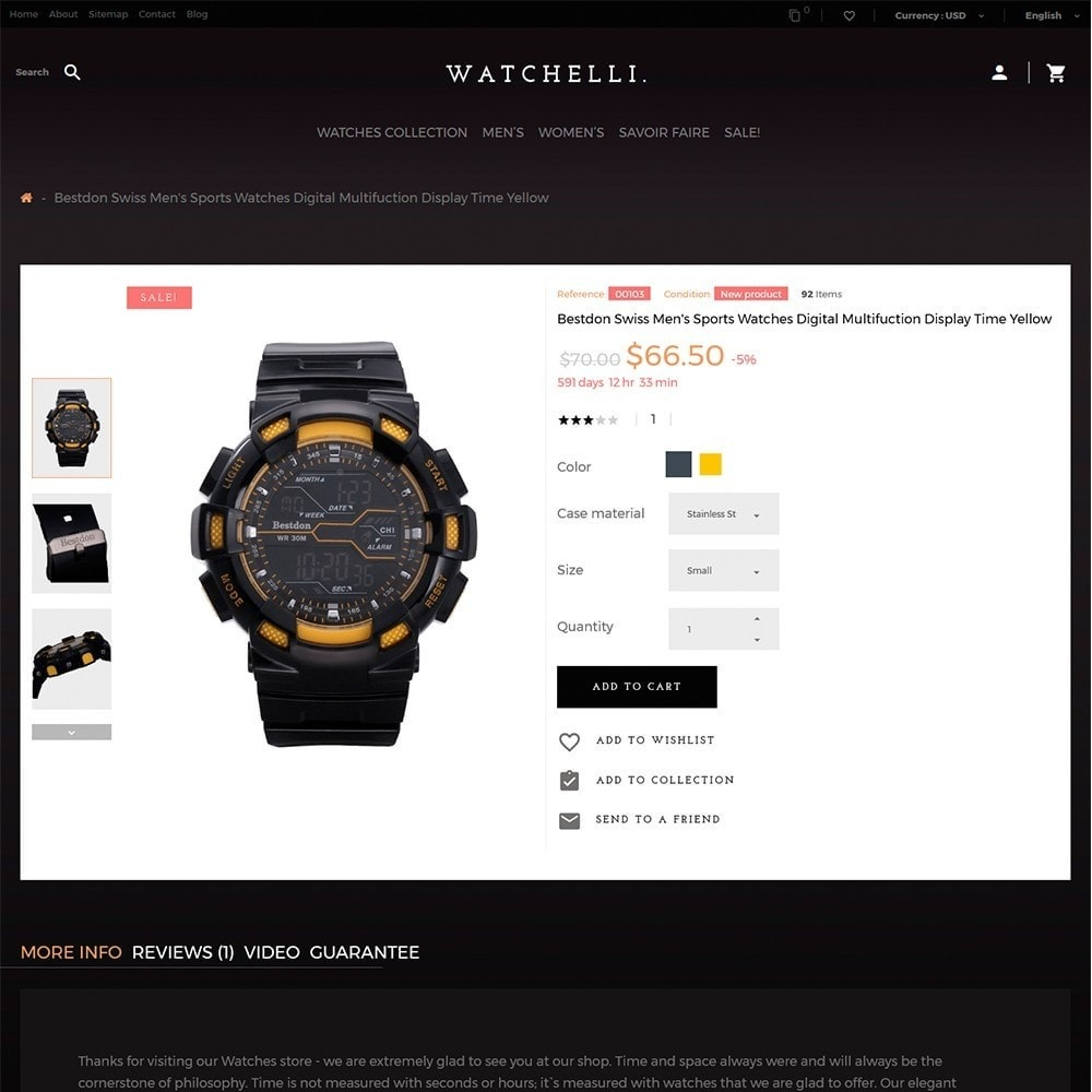 theme - Мода и обувь - Watchelli - шаблон по продаже часов - 3