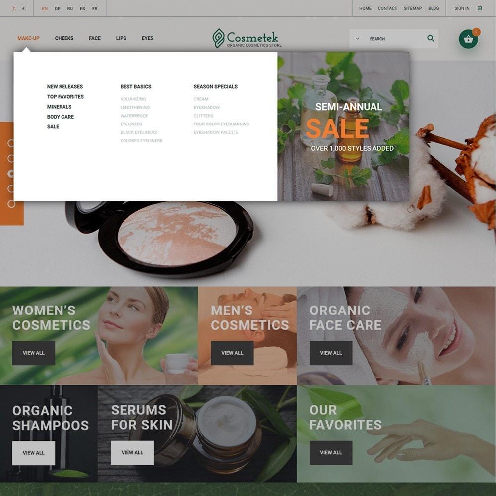 Cosmetek - шаблон магазинa косметики