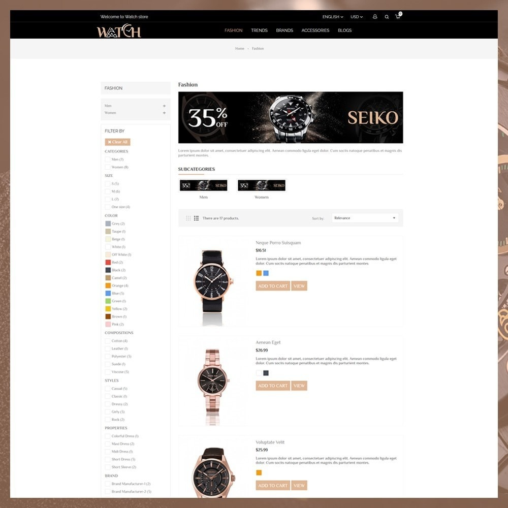 theme - Biżuteria & Akcesoria - Luxury Watch Shop - 5