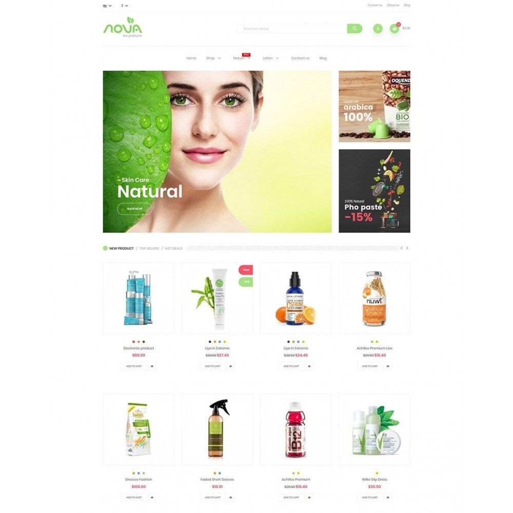 theme - Health & Beauty - Nova - Bio & Medical Store - 2