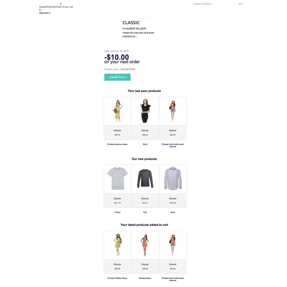 module - Remarketing & Compras abandonados - EmailViewedProduct - 3