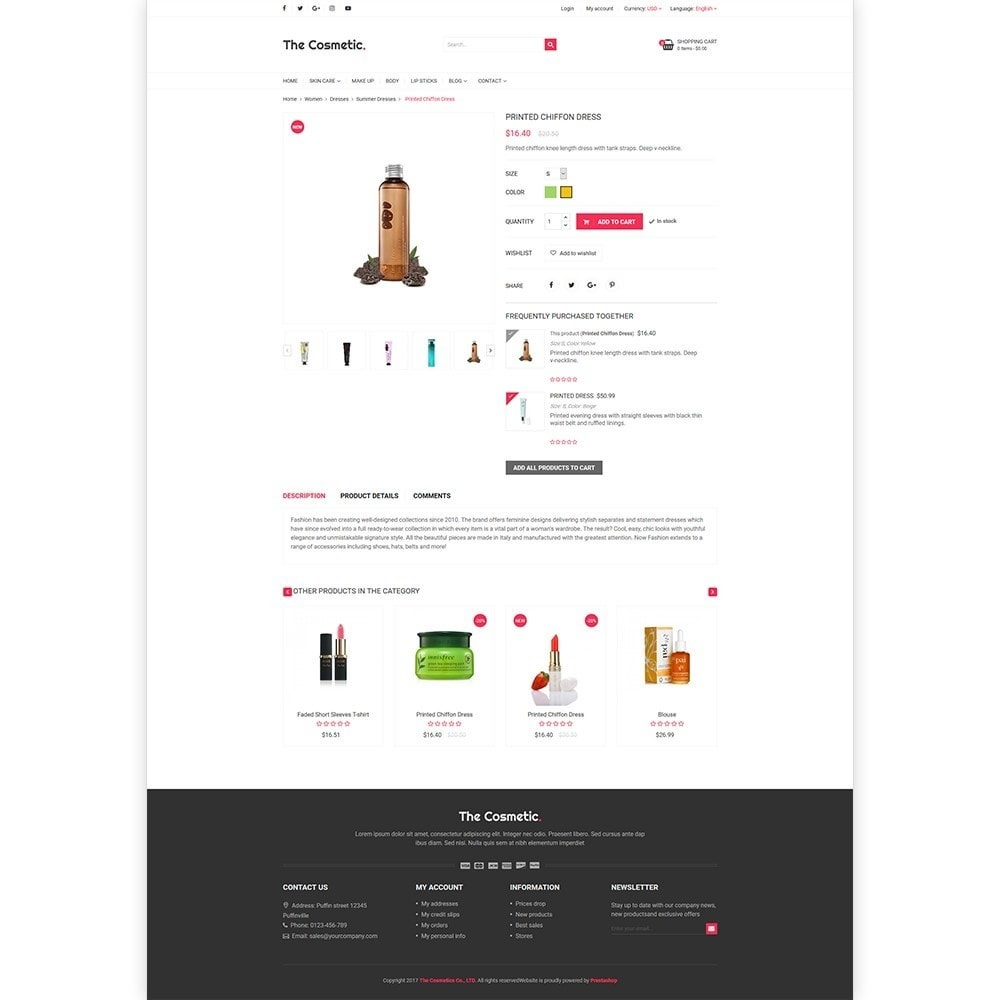 The Cosmetics - Beauty, health and cosmetic store