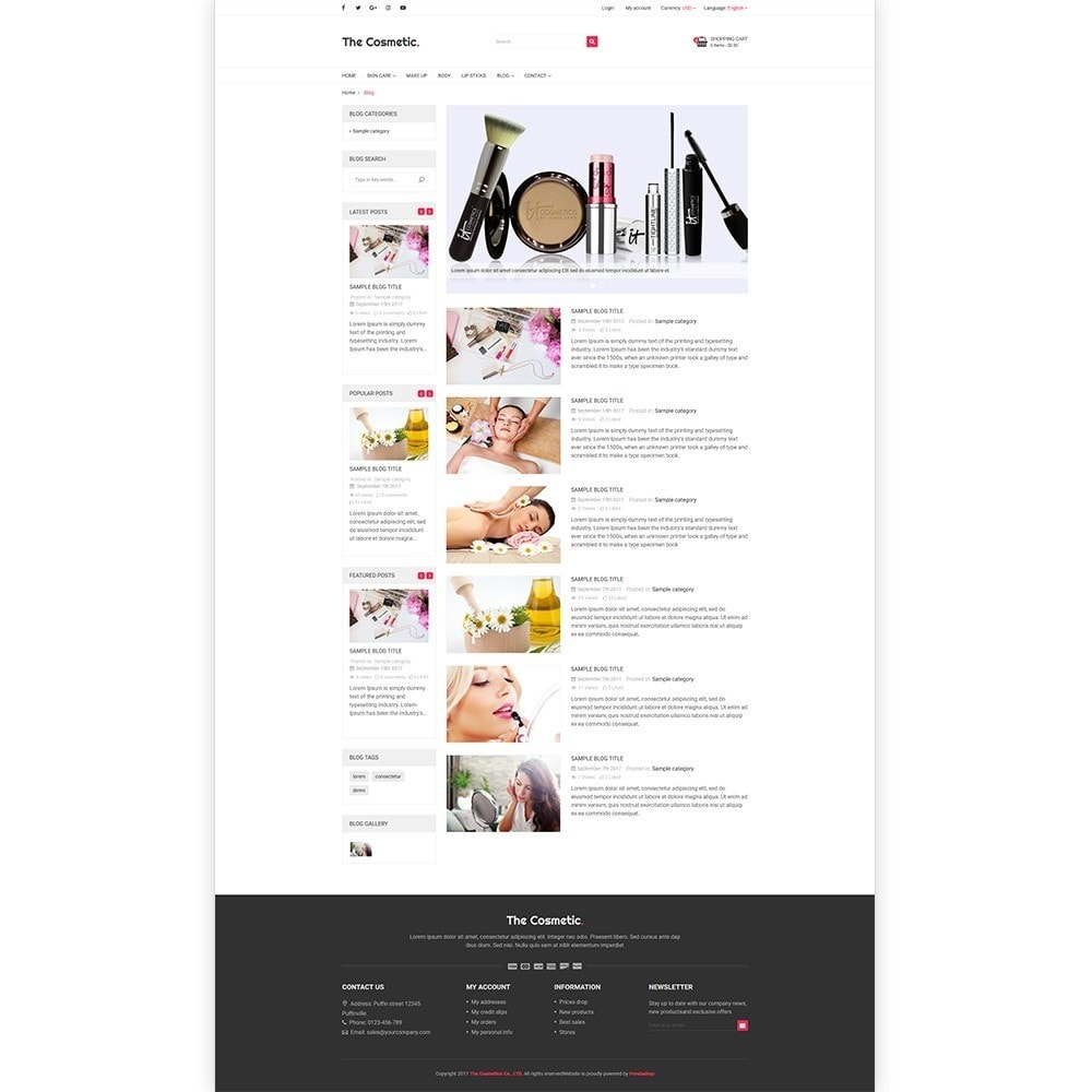 theme - Gezondheid & Schoonheid - The Cosmetics - Beauty, health and cosmetic store - 5