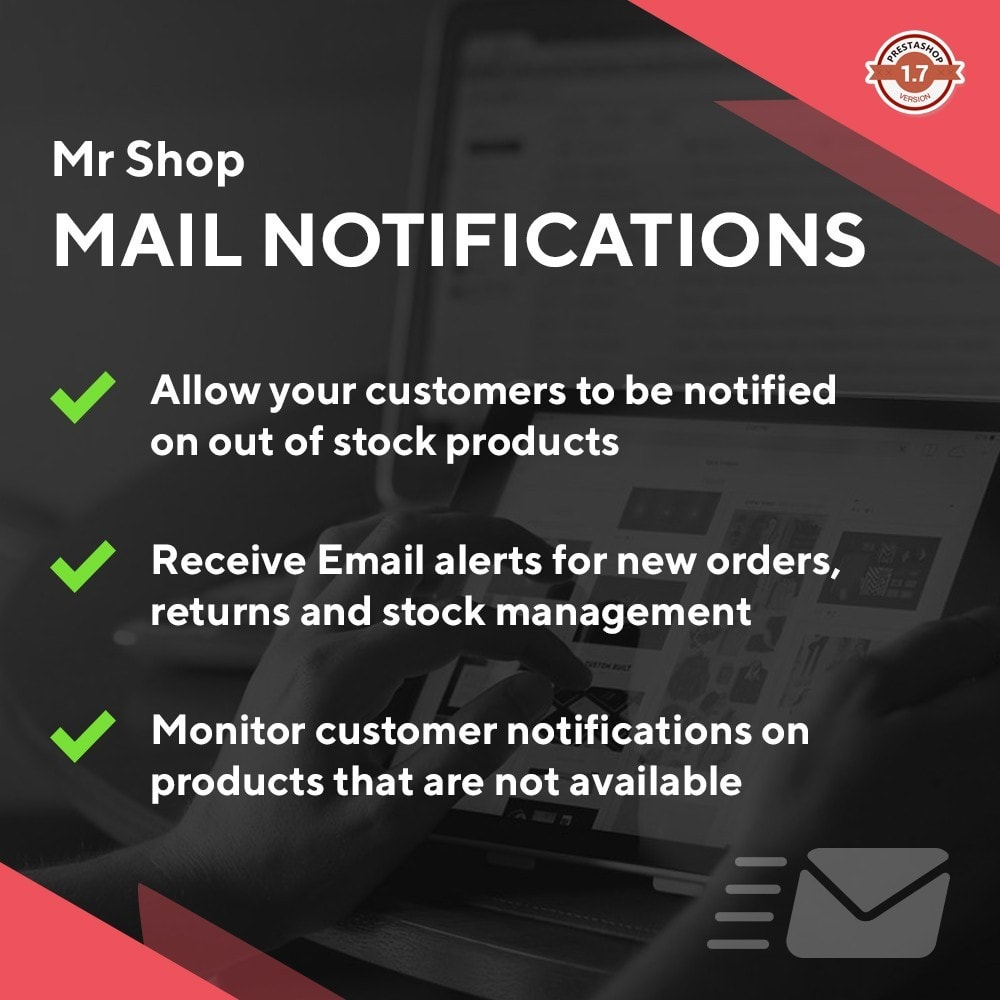 module - E-Mails & Benachrichtigungen - Mr Shop Mail Notifications - 1