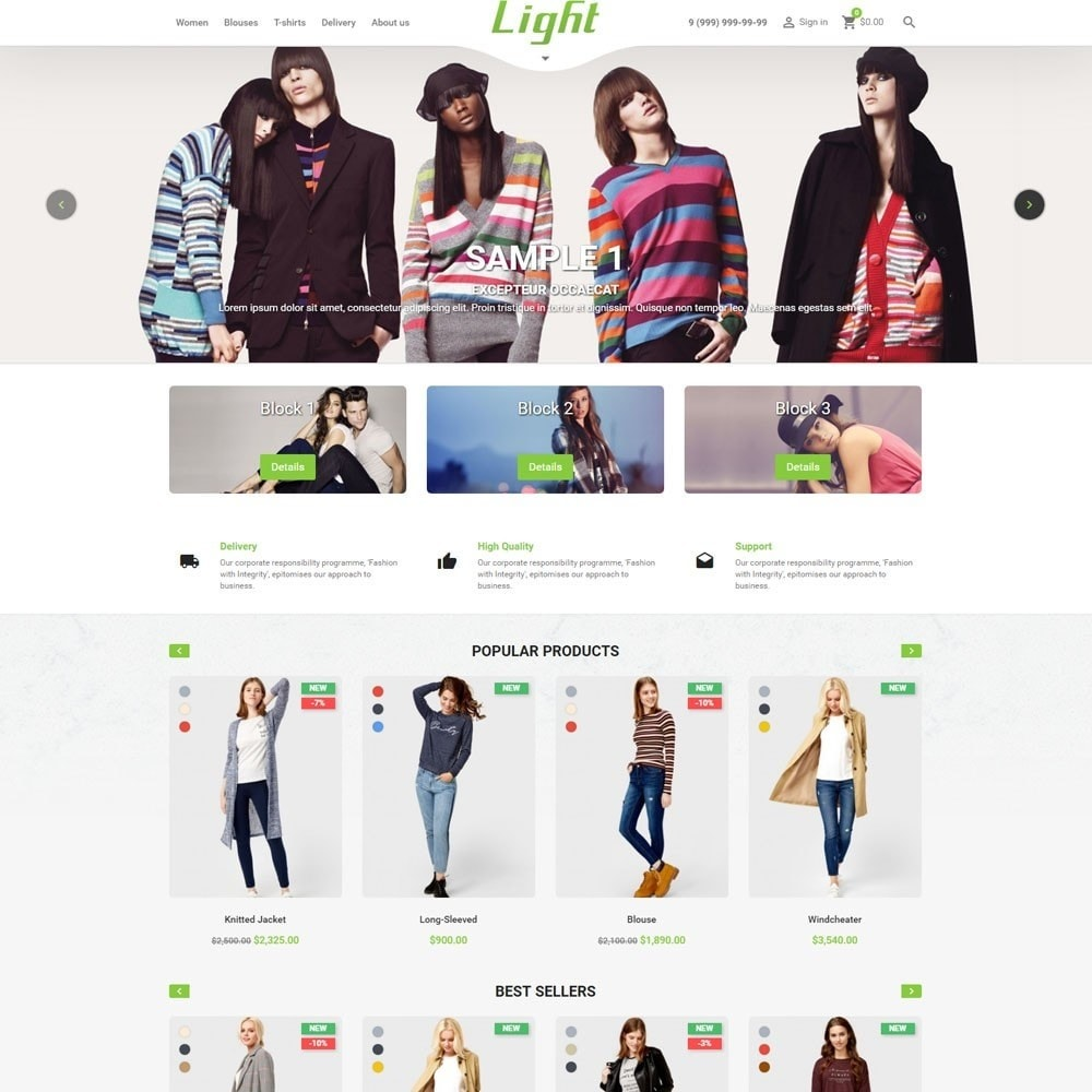 Light Clothes Store
