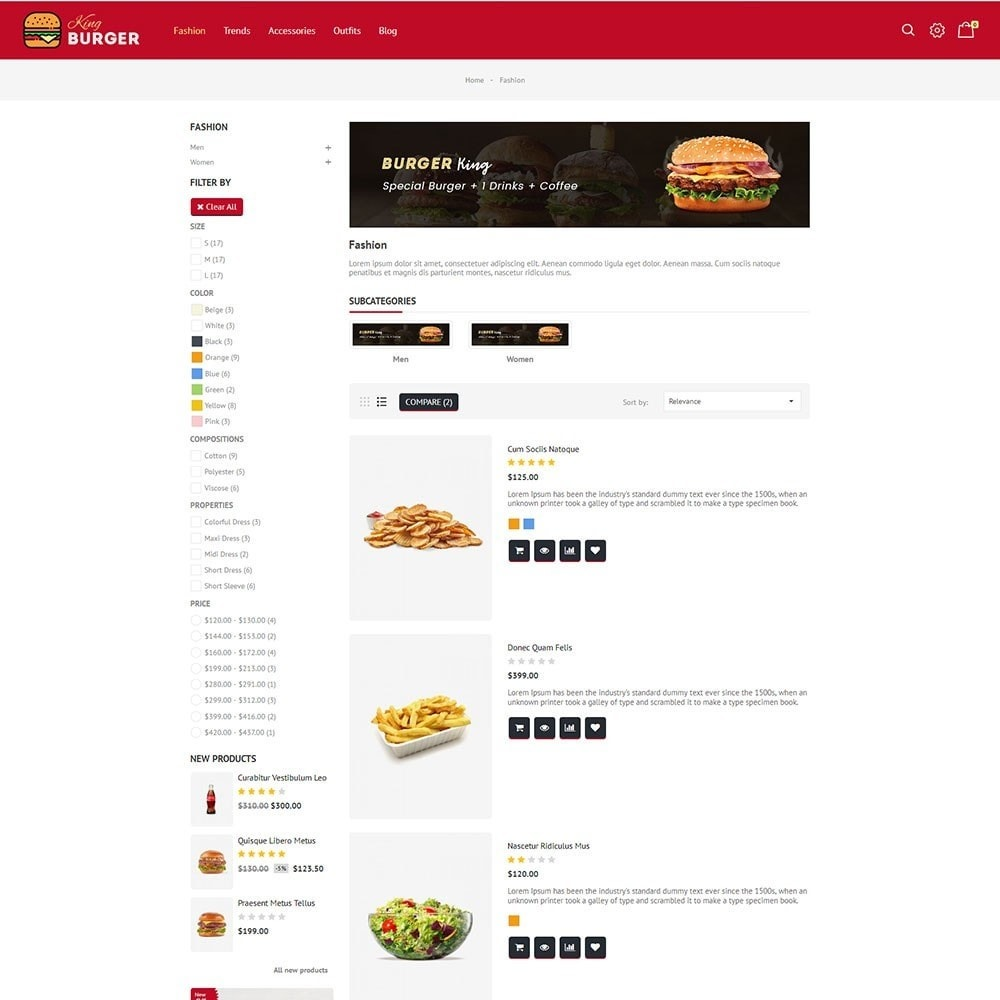 theme - Alimentation & Restauration - King Burger Store - 4