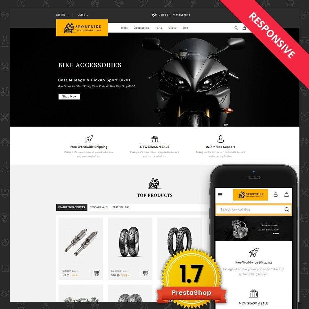 theme - Auto & Moto - Sports Bike Auto Store - 1