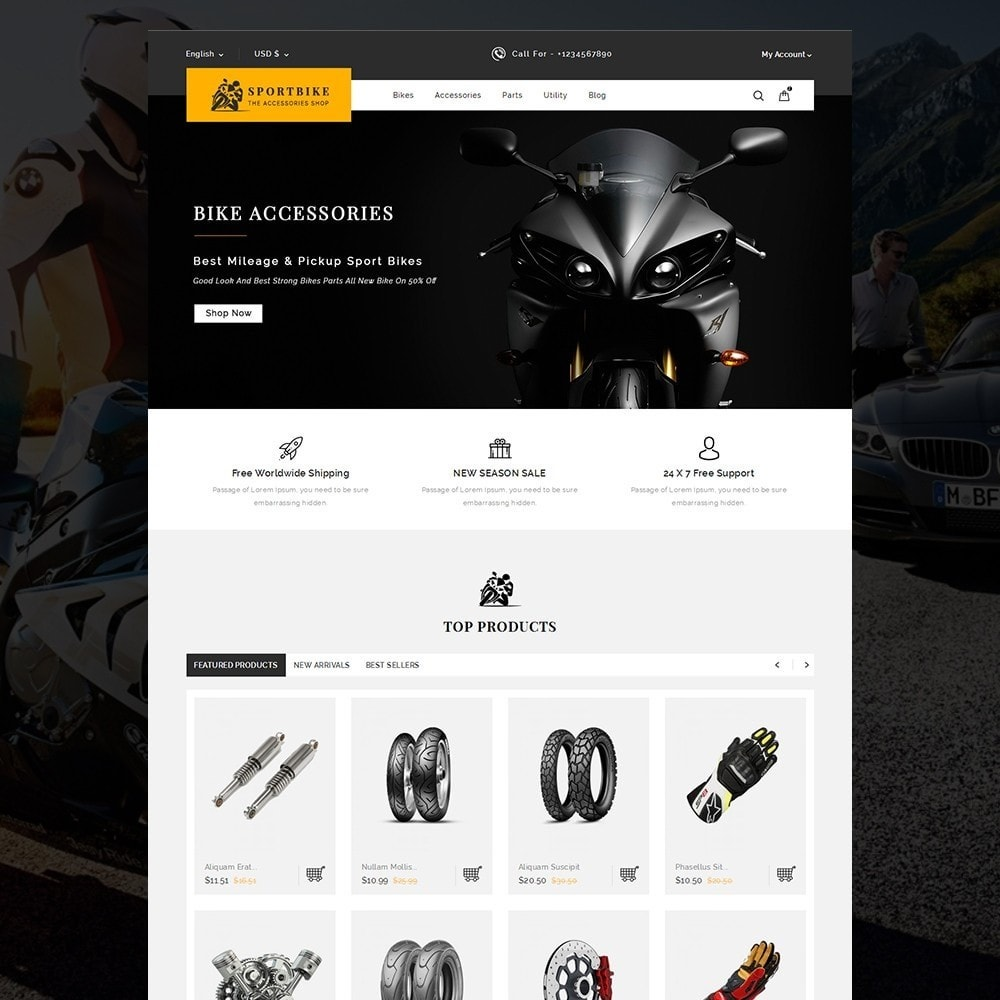theme - Auto's & Motoren - Sports Bike Auto Store - 2