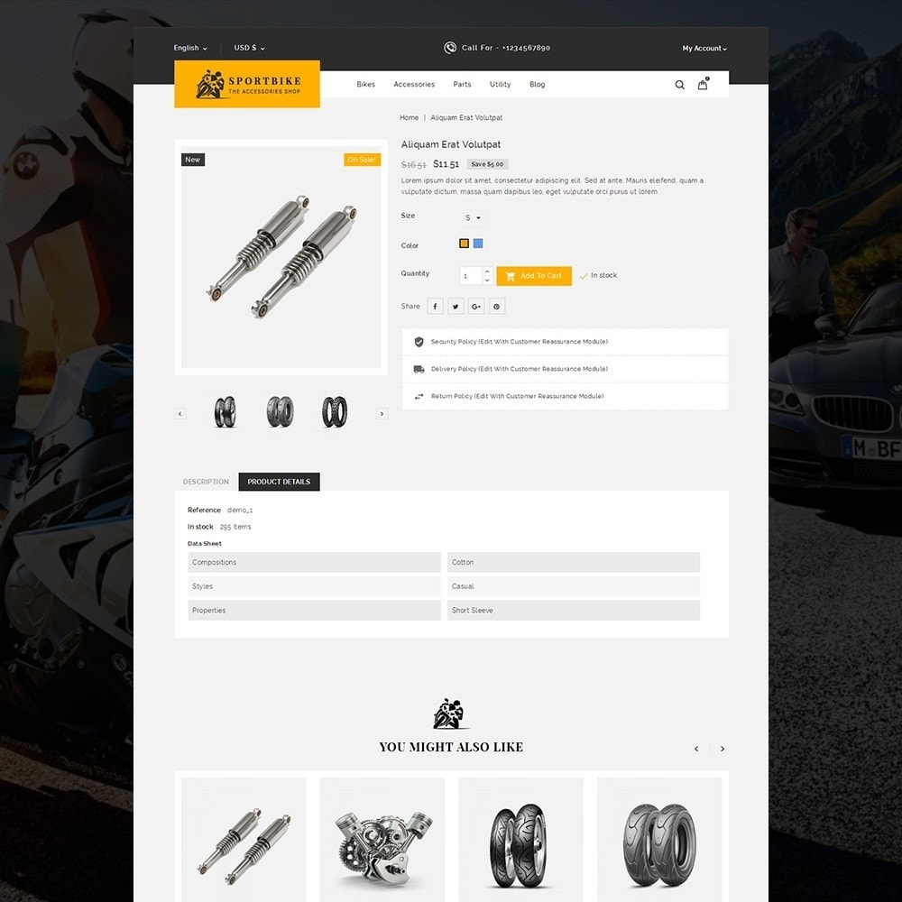 theme - Auto's & Motoren - Sports Bike Auto Store - 4