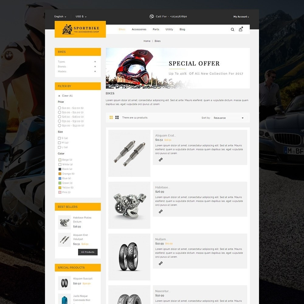 theme - Carros & Motos - Sports Bike Auto Store - 5