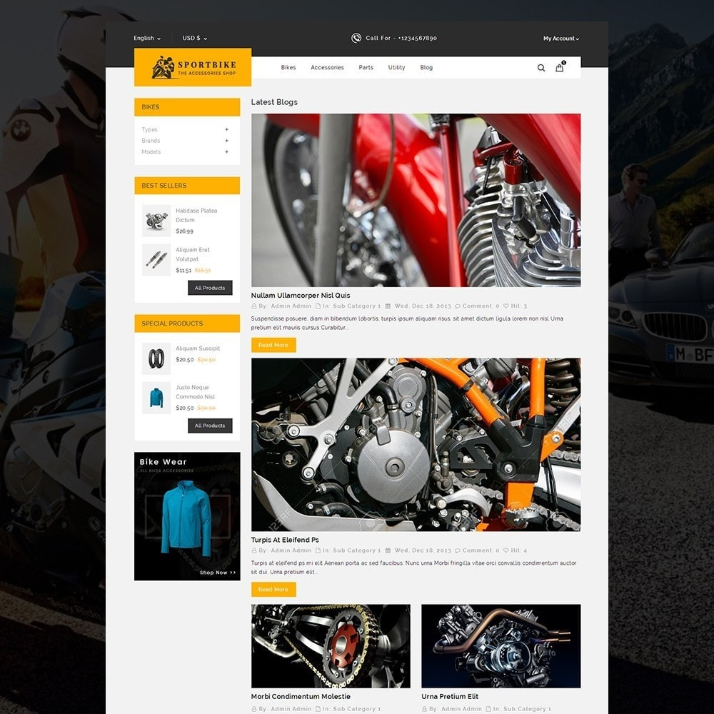 theme - Auto's & Motoren - Sports Bike Auto Store - 6