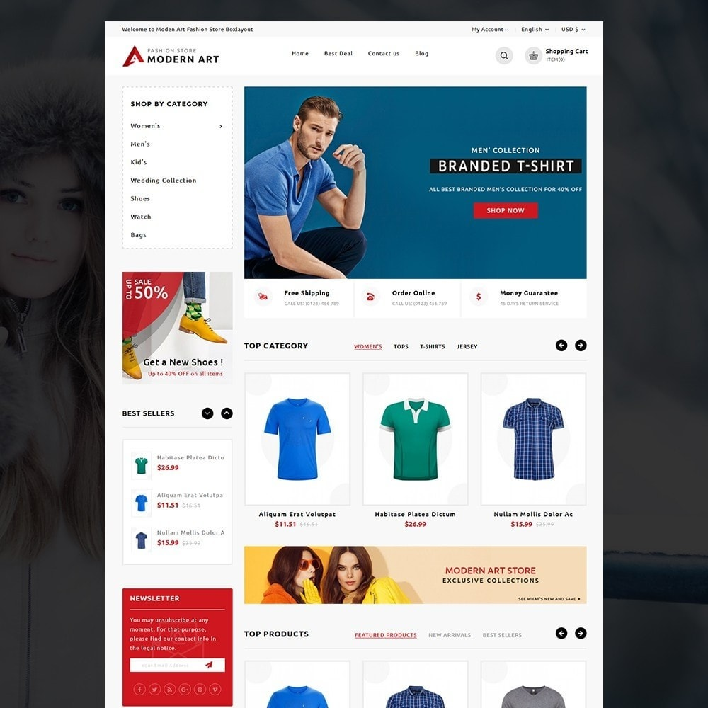 theme - Мода и обувь - Modern Art Fashion store - 2